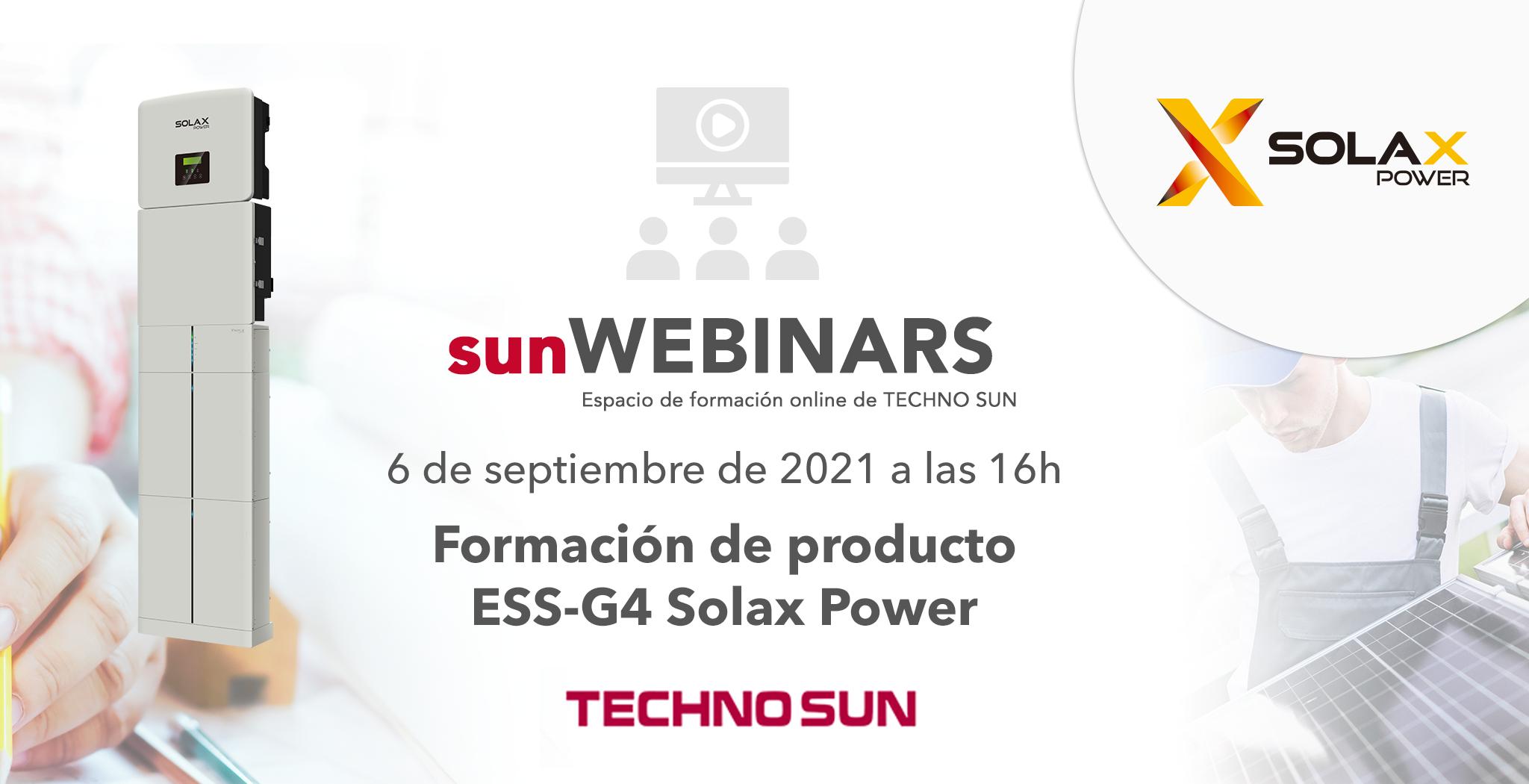 sunWebinar Solax Power ESS-G4